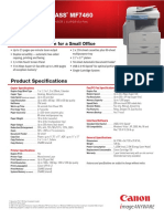Canon MF7460 Brochure