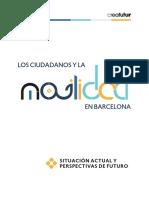 Estudio de Creafutur sobre la Movilidad en el área de Barcelona
