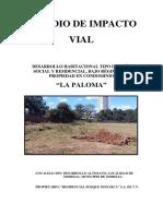 Estudio de Impacto Vial - Altozano 2016 - La Paloma
