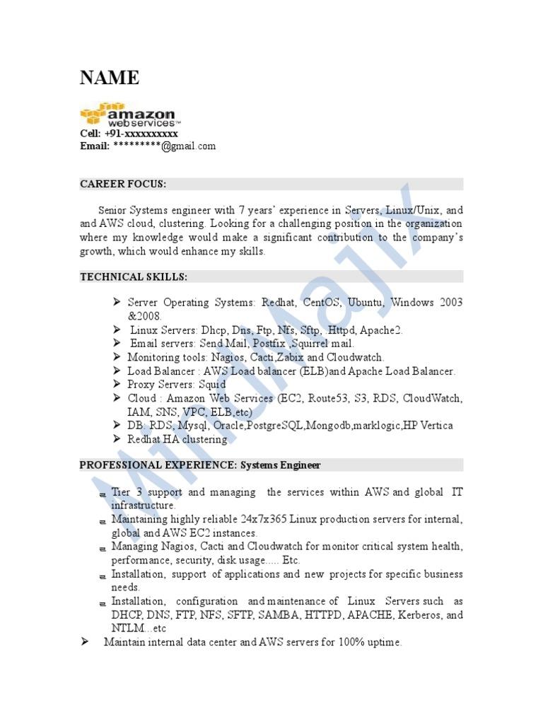 AWS Sample Resume 2 | Amazon Web Services | Comp Tia