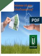 Wie Bekomme Ich Eine Immobilienfinanzierung?