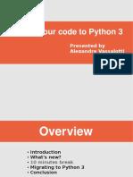 Porting Python Code