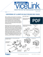 Federal Mogul Centering U-joints in Yokes