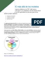 Incorporar TIC Más Allá de Los Modelos - TPACK