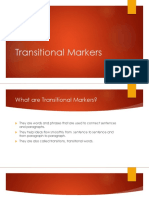 Transitional Markers