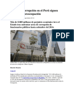 Cifras de Corrupción en El Perú Siguen Generando Preocupación