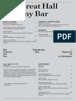 Balcony Bar Menu