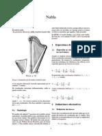 Álgebra de Nabla
