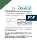 Informe Osiptel