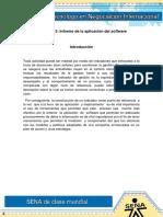 Evidencia 3 Informe de La Aplicación Del Software