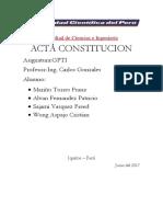 Acta Consti Gpti