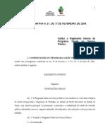 Instrução Normativa 01-04 Regimento Interno