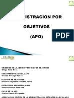 Administracion Por Objetivos (Apo) Electiva 2016