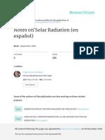 Notas de RadiacionSolar