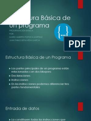 Estructura Básica De Un Programa