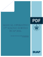 Manual Operativo 17ª Magno Sorteo Buap 2016