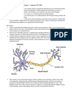 Psych 1XX3 Neuroscience I Lecture Notes