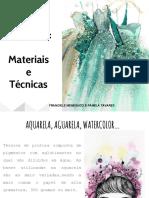 Aquarelar- Materiais e Técnicas