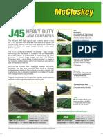 McCloskey J45 SpecSheet