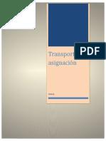 Transporte y Asignación i.o Unidad