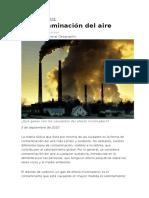 La Contaminación Del Aire (MEDIO AMBIENTE)