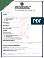 Requisitos de protocolo de posgrado UANL