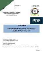 Projet de Recherche Scientifique