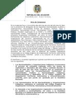 Acta_en La Ciudad de Puyo, Acuerdo Nacionalidades
