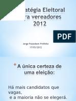 Curso Para Vereadoras PDT 2012