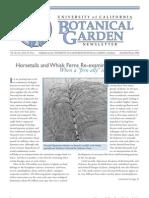 Fall 2003-Winter 2004 Botanical Garden University of California Berkeley Newsletter