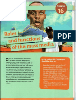 Roles and Functions of the Mass Media