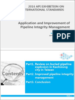 Application and Improvement of Pipeline Integrity Management