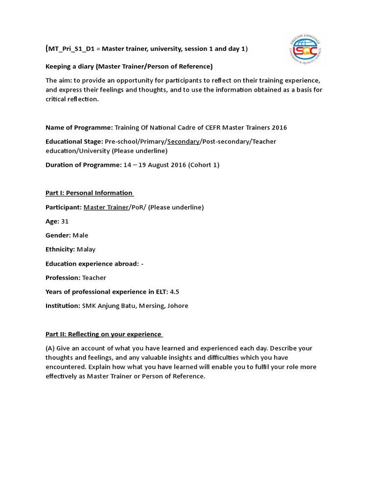 mt_pri_s1_d1 doc further education - Describe Your Educational Experience