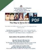 The Way to Serve Sri Guru