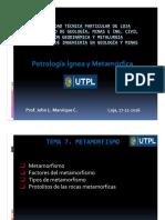 Petrología Ígnea y Metamorfica_Metamorfismo_Prof John Manrique