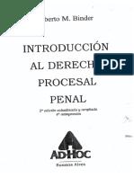 Introduccion al Derecho Procesal Penal. 2° edicion. Binder