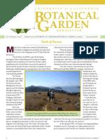Summer-Fall 2009 Botanical Garden University of California Berkeley Newsletter