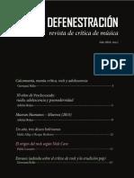 La Defenestración Nro1. Revista musical