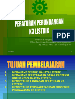 Dasar Hukum k3 Listrik
