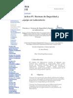 Práctica #1_ Normas de Seguridad y Equipo en Laboratorio - Equipo Química Experimental 6