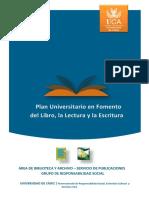 Plan Universitario en Fomento Del Libro- La Lectura y Escr