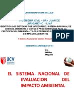 Sistema Nacional de Evaluacion Del Impacto Ambiental
