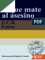 Jaque Mate Al Asesino - E. R. C. Lorac