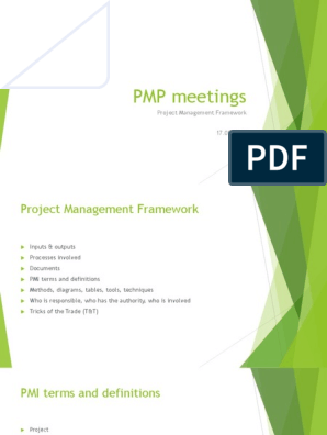 PMP meetings: Project Management Framework 17 05 2017