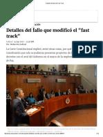 Detalles Del Fallo Del Fast Track