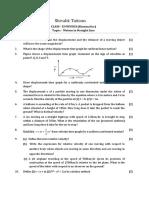11 Physics Kinematics Test 03