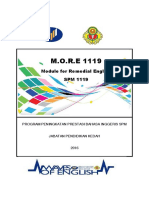 MORE 1119 Module for Remedial English - Kedah