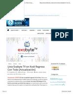 Kodi Exabyte Tv