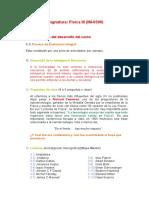 Desarrollo de La Asignatura FII 2015II UNI