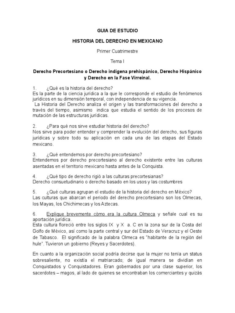 Documents Tips Guia De Estudio Unidad Historia Del Derecho